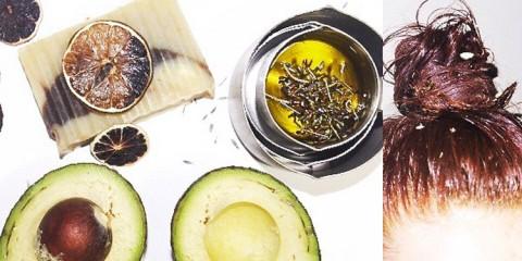 homemade avocado essential oils hair mask