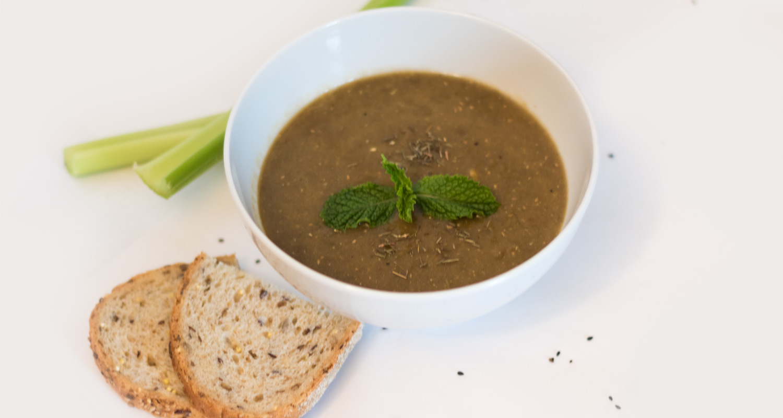 Vegan Split-Pea Soup with Basil