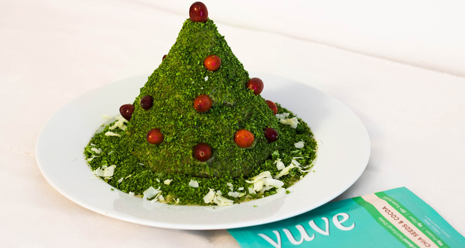 Raw Vegan Matcha Christmas Tree Cake