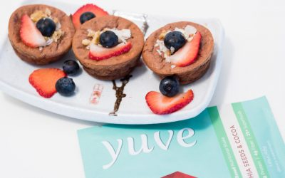 Chocolate Raspberry Protein Muffins