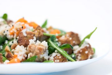 Quinoa salad with Tempeh