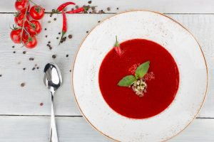 gazpacho soup with pepper