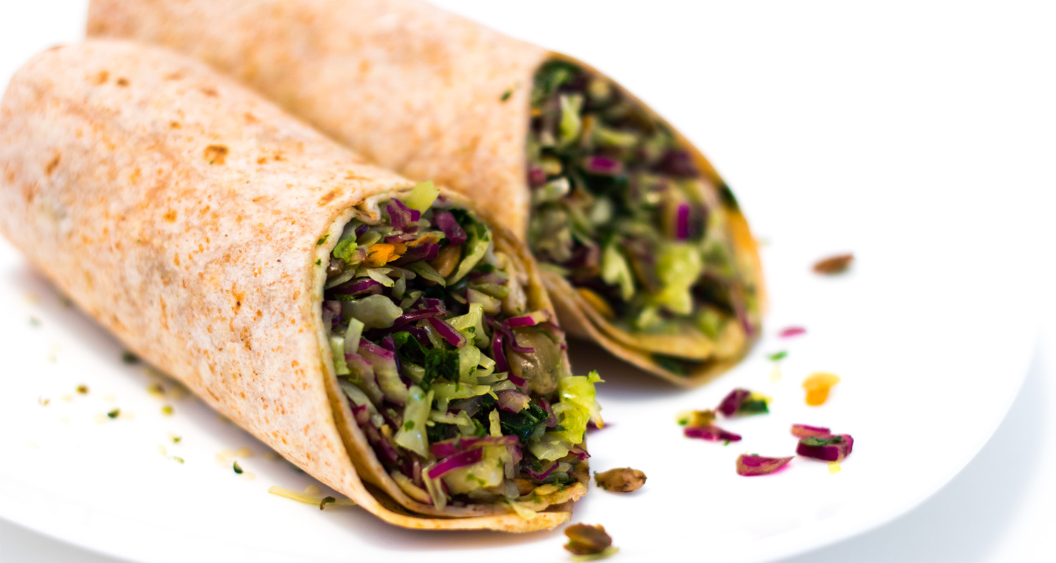 Vegan Pesto Green Burrito