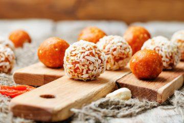 Raw Apricot Cashew Truffles