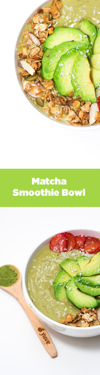 Nutty Matcha Smoothie Bowl pinterest